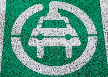 Electric Vehilce parking space ground sign